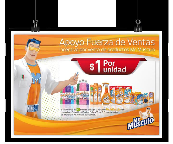 Afiche Mr. Músculo